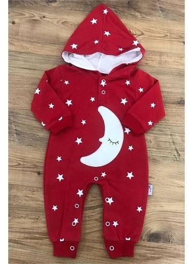 Riccotarz Unisex Bebek Ay Yıldızlı Kırmızı Tulum Kırmızı